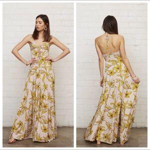 Rachel Pally Harriet Lily Halter Maxi Dress. S